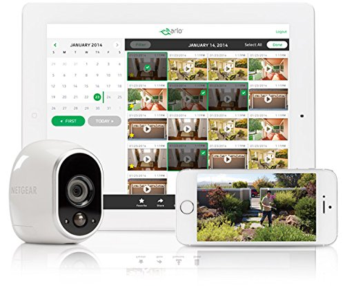 Arlo Smart Home Camera and Mobile Device App in Use