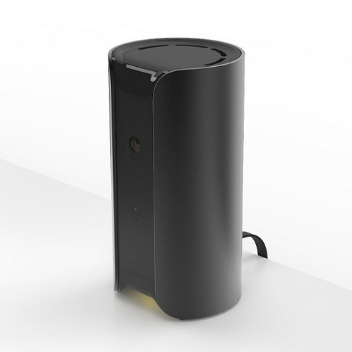 Canary All-in-One Home Security Device on a Table