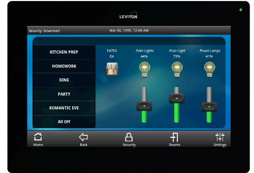Leviton Touchpanel Home Automation Software