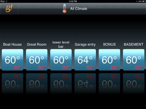 Basic Interface For MultiRoom Climate Control