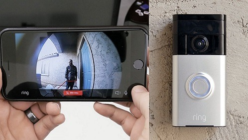 Front Door Smart Camera Feed to Smartphone