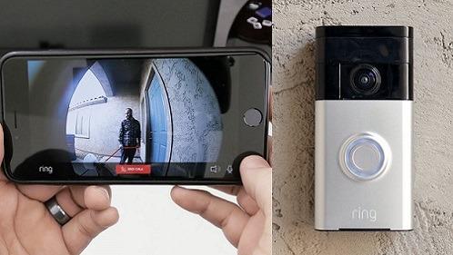 Front Door Smart Camera Feed to Smartphone