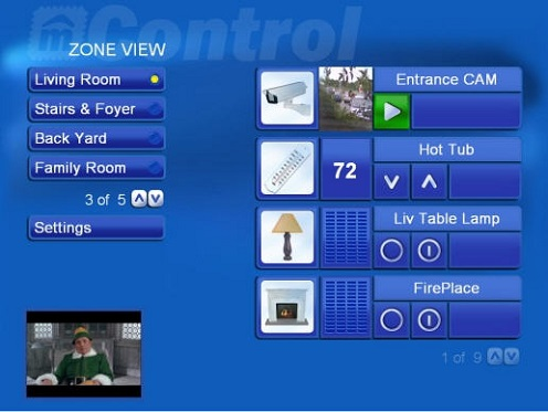mControl Home Automation Software User Interface