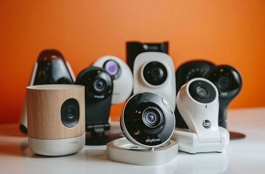 Multiple Security Cameras on a Table