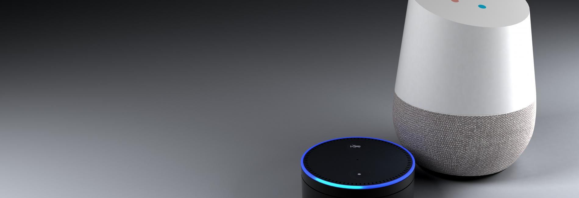 3d rendering of voice recognition system dark backround