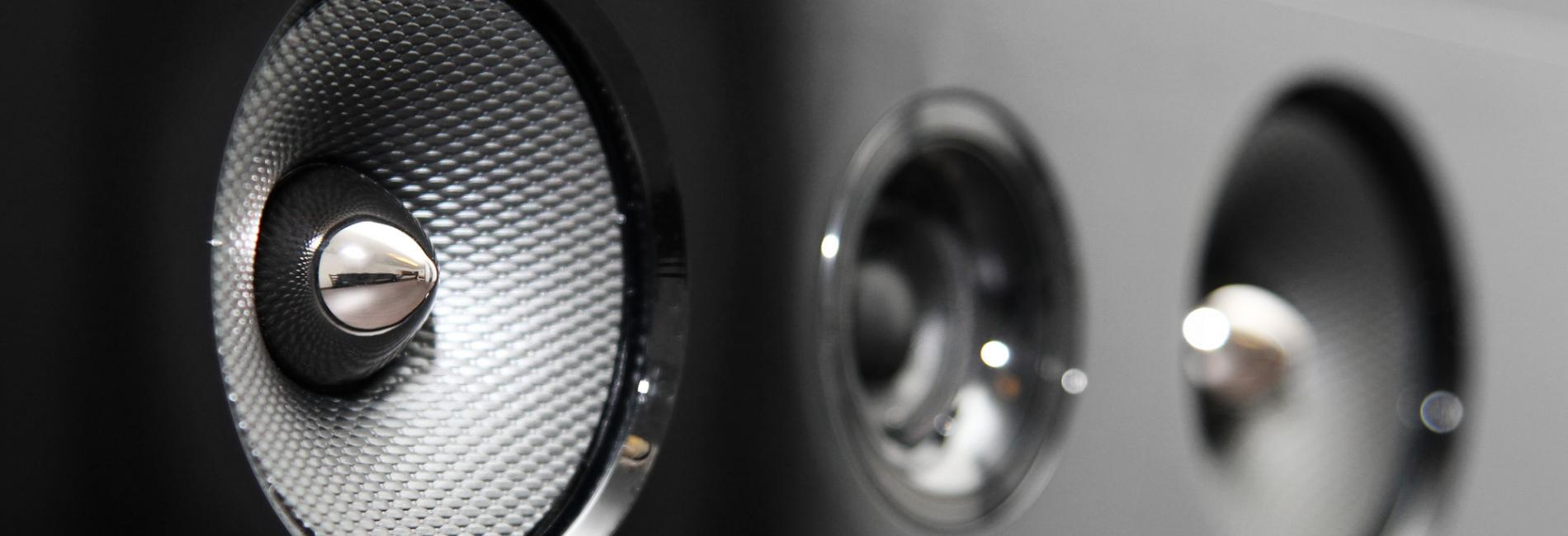 closeup of soundbar speaker