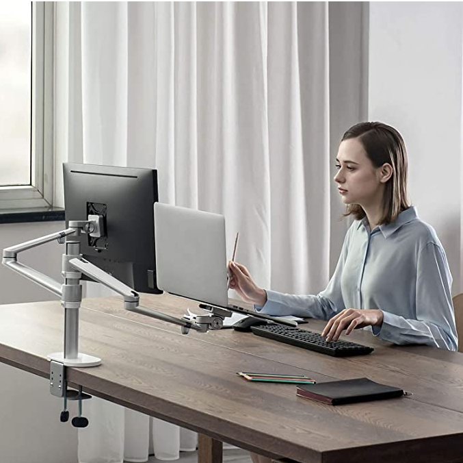 Monitor and Laptop Mount Tablet Holder